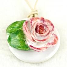 RÓŻA NOSTALGIA wisior róża majolika