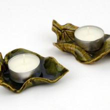 LISTKI II - tealighty ceramiczne
