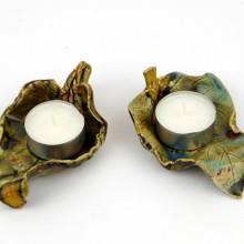 LISTKI III - tealighty ceramiczne