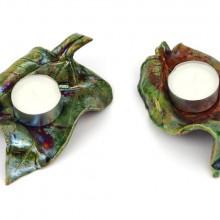 LISTKI IV - tealighty ceramiczne