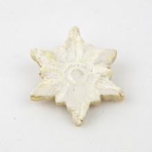 GWIAZDKA biała broszka ceramiczna 1
