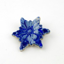 GWIAZDKA niebieska broszka ceramiczna 1