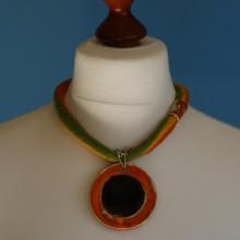 Naszyjnik ceramiczny ..Afryka'' I