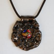METEOR wisior ceramiczny szkło murano